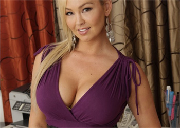 Abbey Brooks Purple Dress