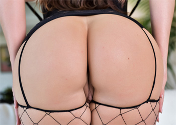 Alison Tyler Fishnets On The Couch