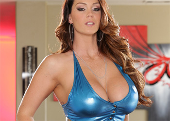 Alison Tyler Shiny Blue and Busty