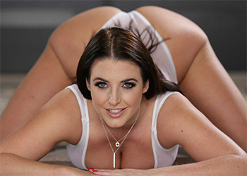 Angela White big natural