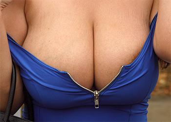 Angela White Blue Dress Tits