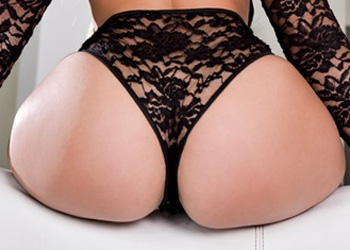 Hot Ass Babe In Lace