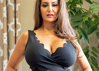 Ava Addams black dress milf