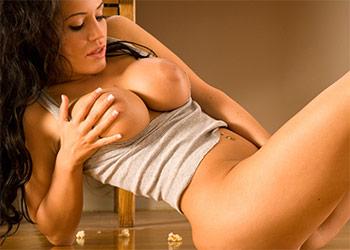 Ava Milano busty babe playboy