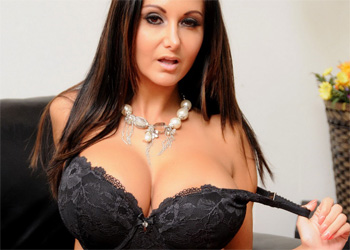 Ava Addams Black Lingerie and Stockings