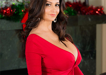 Ava Addams red dress