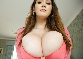 Bella Brewer huge boobs pink lingerie