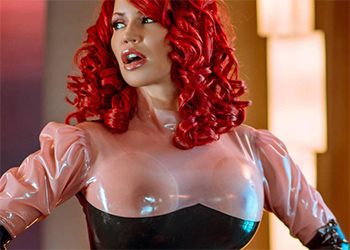 Bianca Beauchamp Sexy Latex Strip