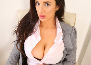 Cara Ruby Busty Secretary Only Tease