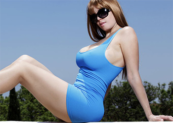 Carolina Blue Dress Curves Sex Mex