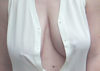 Casey Open Blouse Flashing