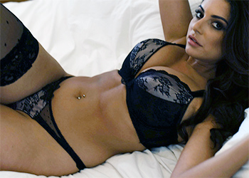 Charley Springer Black Lingerie Bedroom