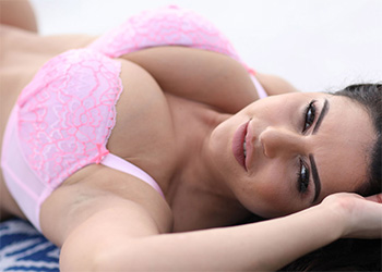 Charley Springer pink bra and panties