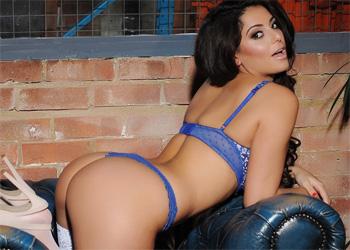 Charlotte Springer Sexy Blue Lingerie
