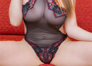 Cherry Sheer Teddy Nudes