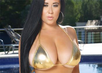 Chloe Kendall Gold Bikini Pinup