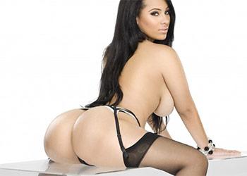 Cyn Santana black lingerie showgirlz