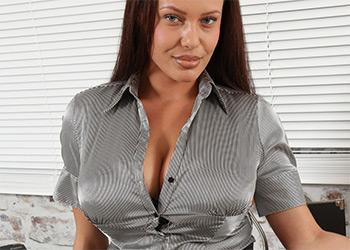 Elle Faye office knockers