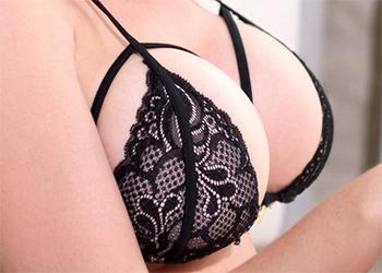 Emma C Black Lingerie Tits