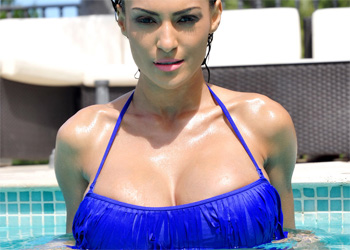 Fernanda Ferrari Blue Bikini Tits Studio66