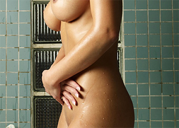 Gabriella takes a soak