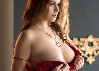Izabella Morales Red Lingerie Bella
