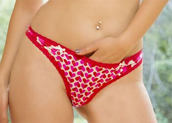 Jelena Jensen Hearts Panties