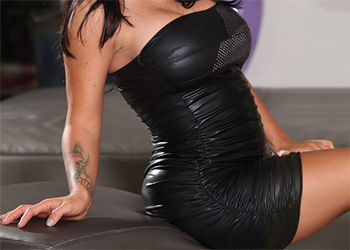 Jenna Presley Leather Dress