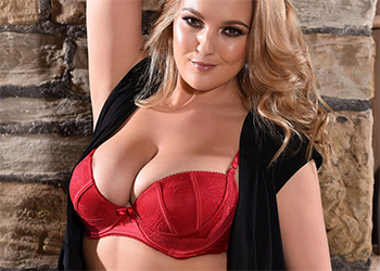 Jodie Gasson Black Dress Red Lingerie