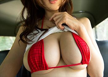 Julia red bikini babe