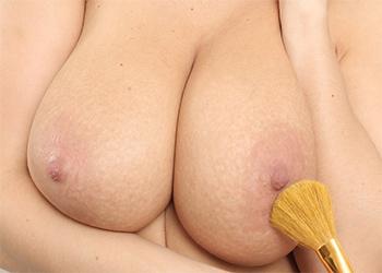 Kathy Kozy White Lace Tits