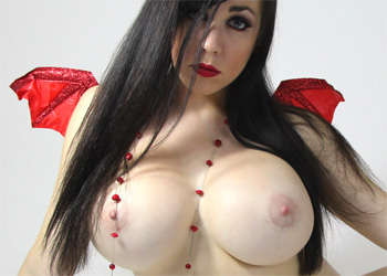 Kayla Kiss Devil Costume