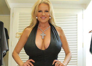 Kelly Madison Tight Dress Cleavage