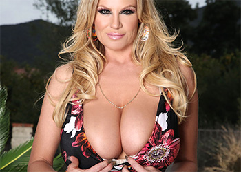 Kelly Madison flower dress boobs