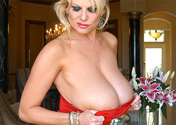 Kelly Madison red dress