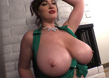 Lana Kendrick christmas boobs video
