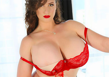 Lana Kendrick red hot lingerie