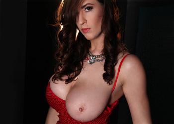 Lana Kendrick Red Dress Beauty