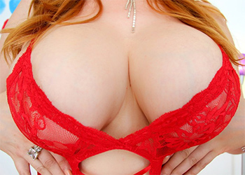 Lauren Phillips Red Lingerie and Boobs