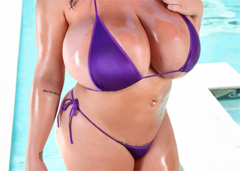 Leanne Crow Poolside Purple Bikini