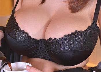Lucie Wilde kitchen tits