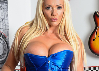 Lucy Zara Blue Corset Curves