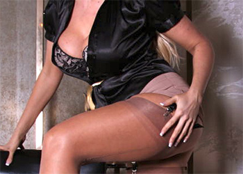 Lucy Zara Open Blouse and Upskirt