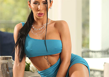 Madison Ivy revel in a blue dress brazzers