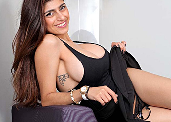 Mia Khalifa Black Dress Hustler