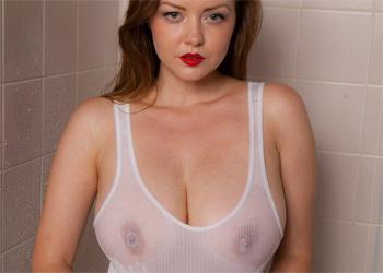 Natasha Dedov Wet Shirt Shower