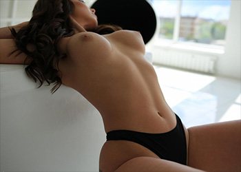NyushaQ black lingerie StasyQ