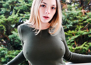 Olga Kobzar busty redhead