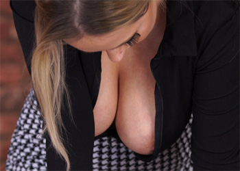 Rachael Big Tits Boss Downblouse