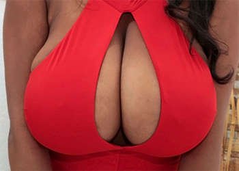 Rachel Raxxx Red Dress Boobs
